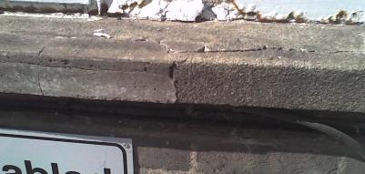 The concrete window surrounds were showing signs of deterioration, this deterioration was widespread over much of the school. here are examples of deterioriation.