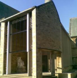 This school chapel in Rutland area exhibited the classic signs of corrosion to the mild steel reinforcement causing parts of the stone section to break off.